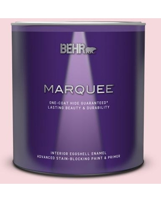 BEHR MARQUEE 1 qt. #140A-2 Coy Pink Eggshell Enamel Interior Paint and Primer in One