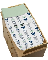 Sweet Jojo Designs Changing Pad Cover - Navy & Mint Mod Arrow