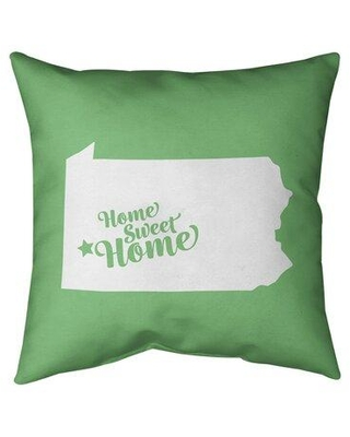Deals For East Urban Home Us Cities States Home Sweet Indoor Outdoor Throw Pillow City Pittsburgh Polyester Polyfill Polyester Polyester Blend In Green