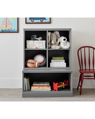 Cameron 1 Bookcase Cubby 1 Open Base Set Charcoal Ups