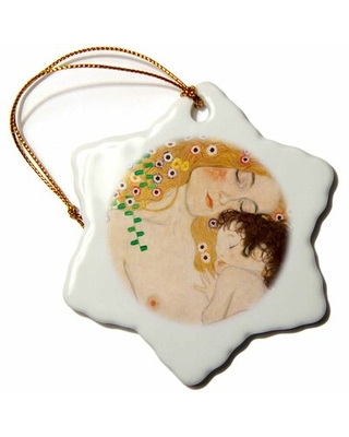 Mother and Child Snowflake Holiday Shaped Ornament The Holiday Aisle®