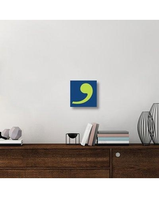 East Urban Home Bold Type 'Comma' Graphic Art Print on Canvas UBAH1188