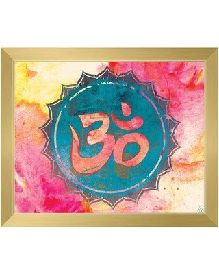Amazing Savings on Bungalow Rose 'Bold Cyan Aum' Framed