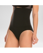 Assets by Spanx Women's Remarkable Results High Waist Control Brief - Black L