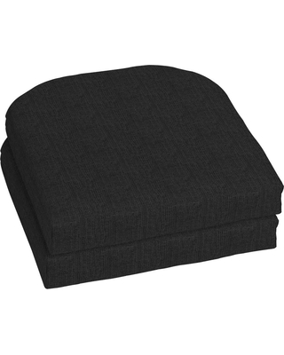 Home Decorators Collection 18 x 18 Sunbrella Canvas Black Outdoor Chair Cushion (2-Pack)