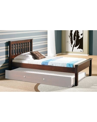 500TCP Twin Contemporary Bed with Slat Kit Mattress Ready Design and Wood Construction in