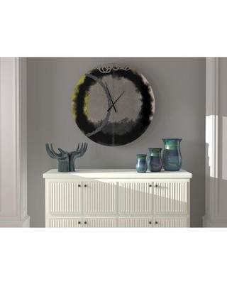 East Urban Home Oversized Tuel Wall Clock X113588683 Size: Large
