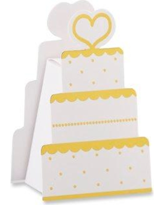 House of Hampton® Cunningham Wedding Cake Box Party Favors CG294592