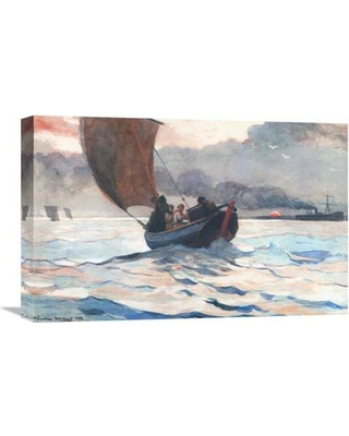 Global Gallery 'Returning Fishing Boats' by Winslow Homer Painting Print on Wrapped Canvas GCS-373252-22-142