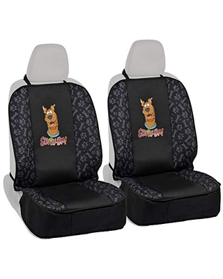 BDK Scooby Doo Waterproof Car Seat Covers for Dogs, 2 Pack Front Seat– Heavy Duty Black Oxford Automotive Front Seat Cover for Pets, Universal Fit for Car Truck Van and SUV