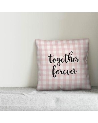 Ebern Designs Shoemaker Together Forever Throw Pillow W001009959 Product Type: Throw Pillow Color: Pink/Black