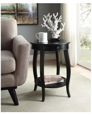 Sawin End Table Winston Porter Table Top Color: Black