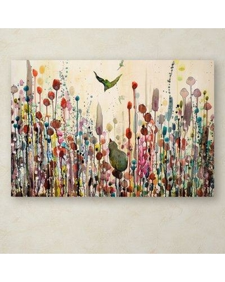 """Winston Porter 'Learning to Fly' Graphic Art Print on Wrapped Canvas WNST5854 Size: 22"""" H x 32"""" W"""