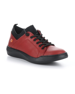 Softinos by Fly London Bonn Sneaker, Size 5.5Us in 003 Red Smooth Leather at Nordstrom