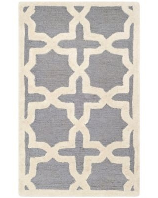 Safavieh Cambridge 2-Foot 6-Inch x 4-Foot Ana Wool Rug in Silver/Ivory