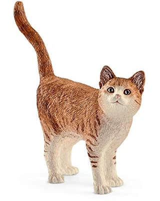 SCHLEICH Farm World Cat Educational Figurine for Kids Ages 3-8