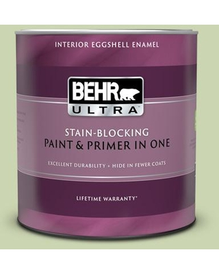 BEHR ULTRA 1 qt. #M360-3 Avocado Whip Eggshell Enamel Interior Paint and Primer in One