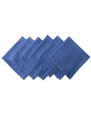 DII Variegated Tabletop Collection, Napkin Set, Nautical Blue 6 Count
