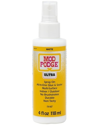 Mod Podge® Ultra Matte All-In-One Glue & Sealer Spray in Clear   4 oz   Michaels®
