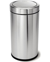 simplehuman Stainless Steel 14.5 Gallon Swing Top Trash Can CW1442