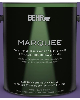 BEHR MARQUEE 1 gal. #MQ4-28 Purple Sky Semi-Gloss Enamel Exterior Paint and Primer in One