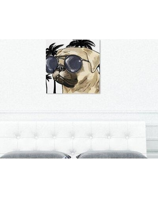"""Art Remedy Dogs and Puppies 'Ready for the Town Light Chrome' Graphic Art Print on Wrapped Canvas 26740_XHD Size: 30"""" H x 30"""" W x 1.5"""" D"""