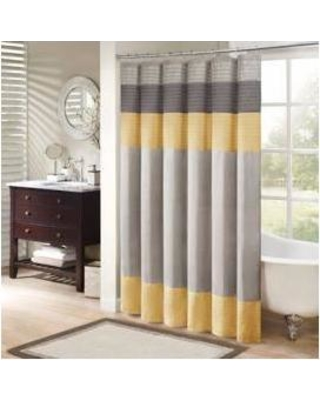 """Madison Park Amherst 72x72"""" Shower Curtain in Yellow - Olliix MP70-2489"""