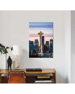 """East Urban Home 'The Space Needle and Skyline at Dawn Seattle USA I' Photographic Print on Canvas EBHS5190 Size: 26"""" H x 18"""" W x 0.75"""" D"""