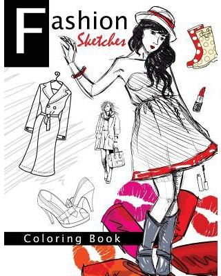 Fashion Sketches Coloring Book Volume 1