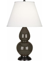 Robert Abbey Brown Tea and Bronze Table Lamp