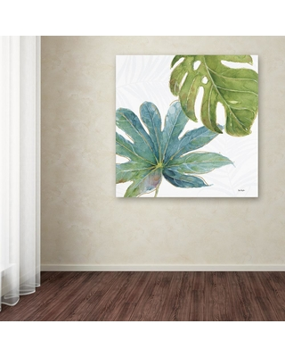 """Trademark Fine Art 35 in. x 35 in. """"Tropical Blush VII"""" by Lisa Audit Printed Canvas Wall Art, Multi"""