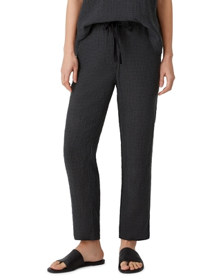 Women's Eileen Fisher Organic Linen Tapered Ankle Pants, Size XX-Small - Grey