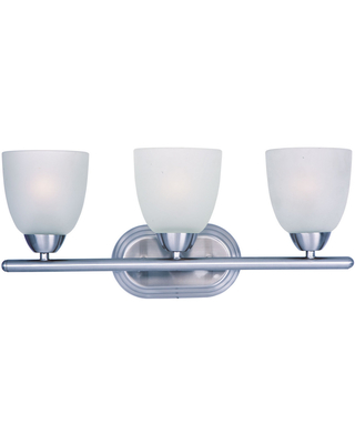 Maxim Lighting Axis 21 inch 3-Light Frosted Bathroom Vanity Light in Polished Chrome