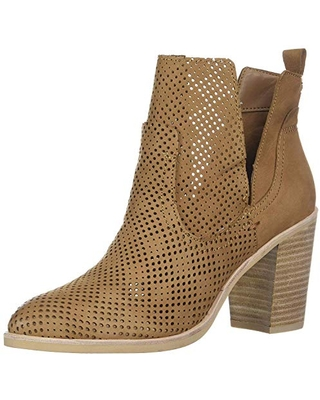 Dolce Vita Women's Shay PERF Ankle Boot, tan Nubuck, 7.5 M US