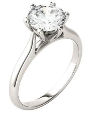 Charles & Colvard White Gold 1.5 ct. t.w. Lab Created Moissanite Solitaire Ring in 14K White Gold