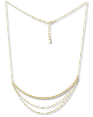 ca08180a040ae Jared The Galleria Of Jewelry Layered Gold Necklace 10K Yellow Gold 18