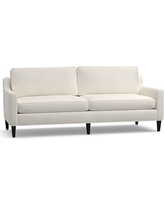 "Beverly Upholstered Grand Sofa 90"", Polyester Wrapped Cushions, Denim Warm White"