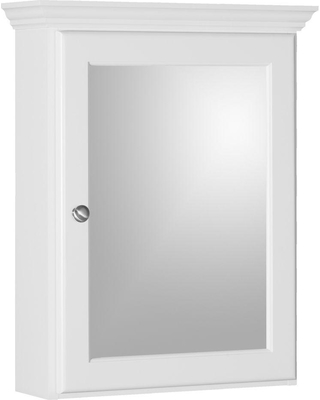 Simplicity by Strasser Ultraline 19 in. W x 27 in. H x 6-1/2 in. D Framed Surface-Mount Bathroom Medicine Cabinet in Satin White