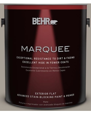 BEHR MARQUEE 1 gal. #PPU24-09 True Taupewood Flat Exterior Paint and Primer in One