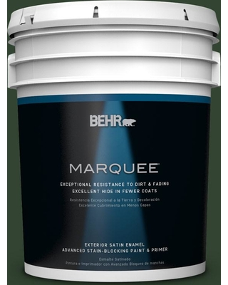 BEHR MARQUEE 5 gal. #ecc-48-3 Lush Grass Satin Enamel Exterior Paint and Primer in One