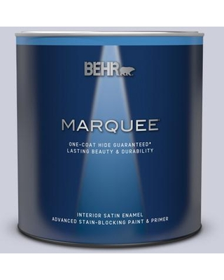 BEHR MARQUEE 1 qt. #620E-2 Naturally Calm Satin Enamel Interior Paint & Primer