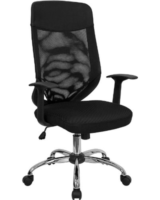 Flash Furniture High Back Black Mesh Executive Swivel Office Chair with Arms