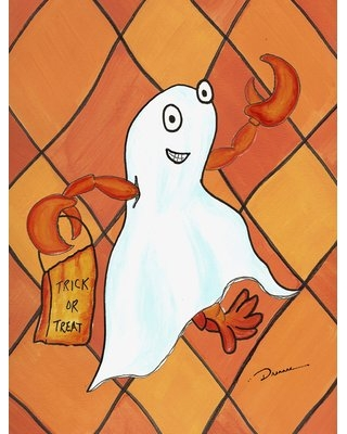 Crawfish Halloween Ghost 2-Sided Polyester 40 x 28 in. House Flag Caroline's Treasures
