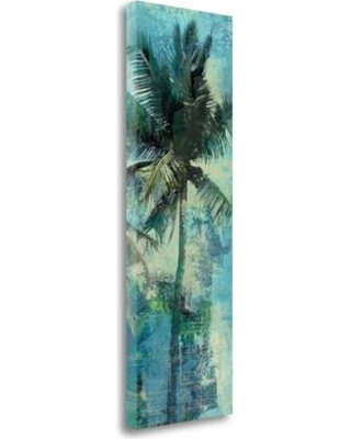 "Tangletown Fine Art 'Teal Palm Triptych II' Print on Canvas BAEY25468-1339c Size: 39"" H x 13"" W"