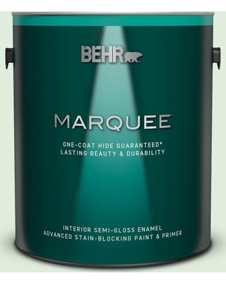 BEHR MARQUEE 1 gal. #450C-2 Breath of Spring Semi-Gloss Enamel Interior Paint and Primer in One