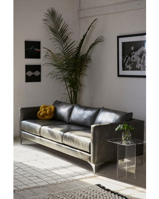 Remarkable New Deals On Chamberlin Recycled Leather Sofa Grey At Pabps2019 Chair Design Images Pabps2019Com
