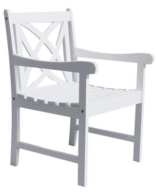 Bradley Collection V1610 Eco-Friendly Outdoor Wood Garden Arm Chair