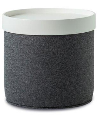 sohoConcept Celine Pouf CEL-POUF-C-1 Fabric: Gray Leg Color: Brown