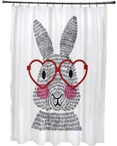 Viv + Rae Nona What's Up Bunny? Shower Curtain VVRO5018 Color: Red