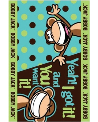 LA Rug Bobby Jack Going Dotty Multi Colored 3 ft. x 5 ft. Area Rug